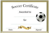 Soccer Award Certificates | Soccer Awards, Soccer within Best Player Of The Day Certificate Template Free