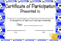 Soccer Certificate Of Participation Soccer Award Print At within Soccer Mvp Certificate Template