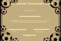 Soccer Certificate Templates Printable | Certificate in Unique 10 Sportsmanship Certificate Templates Free