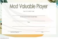 Soccer Mvp Certificate Template Free 1 In 2020 | Certificate inside Soccer Mvp Certificate Template