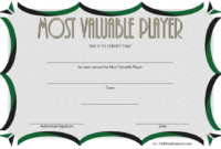 Soccer Mvp Certificate Template Free 2 In 2020 | Certificate for Soccer Mvp Certificate Template