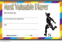 Soccer Mvp Certificate Template Free 4 In 2020 | Certificate intended for Soccer Mvp Certificate Template