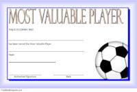 Soccer Mvp Certificate Template Free 6 In 2020 | Certificate within Soccer Mvp Certificate Template