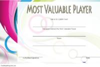 Soccer Mvp Certificate Template Free 7 In 2020 | Certificate with regard to Fresh Soccer Mvp Certificate Template