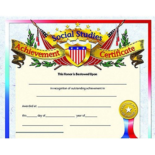 Social Studies Achievement Certificate (Set Of 30) | Social Regarding Social Studies Certificate Templates