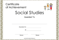 Social Studies Achievement Certificate Template Download regarding Social Studies Certificate Templates