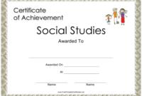 Social Studies Achievement Certificate Template Download with regard to Unique Social Studies Certificate
