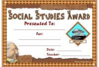 Social Studies Award Certificates | Social Studies Awards within Editable Certificate Social Studies
