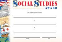 Social Studies Award Gold Foil-Stamped Certificates – Pack Of 25 in Unique Social Studies Certificate