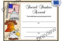 Social Studies Certificate, End Of Year Certificates, Pdf Social Studies  Certificate, Editable Social Studies Certificate, School Award with Unique Social Studies Certificate