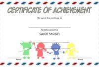 Social Studies Certificate Template 7 Free | Social Studies intended for Best Editable Certificate Social Studies