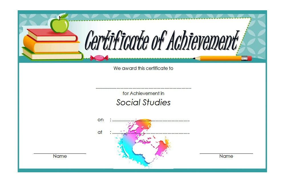 Social Studies Certificate Template 8 Free | Social Studies with Best Social Studies Certificate Templates