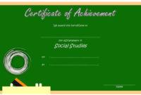 Social Studies Certificate Template 9 Free | Social Studies inside Unique Social Studies Certificate