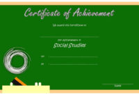 Social Studies Certificate Template 9 Free | Social Studies within Social Studies Certificate Templates