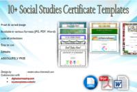 Social Studies Certificate Templates Free Editable within Best Editable Certificate Social Studies