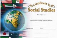 Social Studies Photo Image Certificate pertaining to Unique Social Studies Certificate