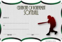 Softball Achievement Certificate Template 2 Free In 2020 regarding Best Free Softball Certificates Printable 10 Designs