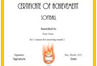 Softball Awards   Softball Awards, Baseball Award, Softball inside Free Softball Certificates Printable 10 Designs