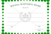 Softball #Certificate #Template   Certificate Templates within Best Free Softball Certificates Printable 10 Designs