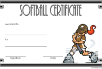 Softball Certificate Template Free (1St Version) In 2020 pertaining to Best Free Softball Certificates Printable 10 Designs