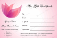 Spa Gift Certificate Template (22+ Editable & Printable Designs) regarding Best Free Spa Gift Certificate Templates For Word