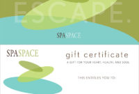 Spa Gift Certificates – Chicago Massage & Spa | Spa Space regarding Spa Gift Certificate