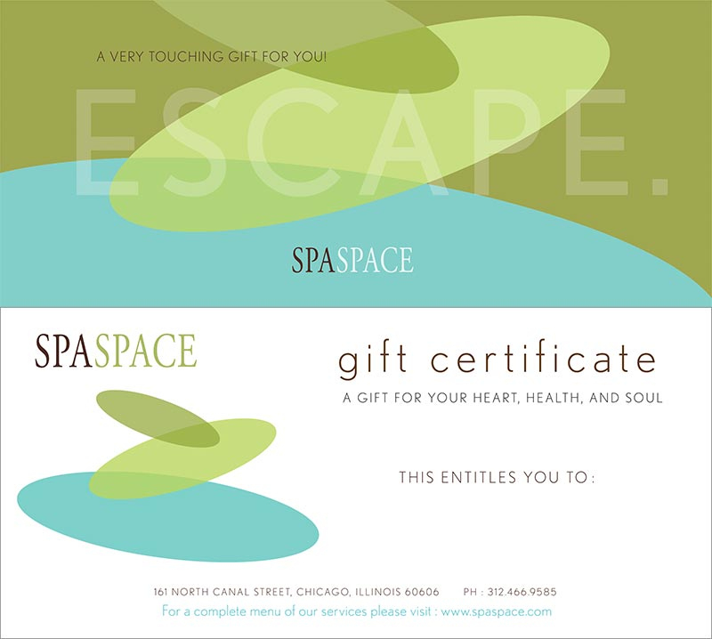 Spa Gift Certificates - Chicago Massage & Spa | Spa Space Regarding Spa Gift Certificate