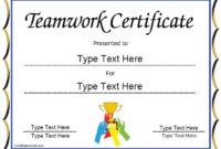 Special Certificate – Team Work Certificate intended for Free Teamwork Certificate Templates