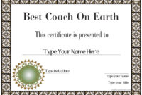 Special Certificates – Best Coach Ever | Certificatestreet intended for Best Coach Certificate Template