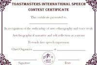 Speech Contest Winner Certificate Template: 10 Free Pdf throughout Contest Winner Certificate Template