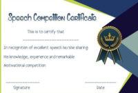 Speech Contest Winner Certificate Template: 10 Free Pdf within Unique Contest Winner Certificate Template