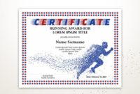 Sport Editable Zertifikat Vorlage Editable Running Award Diploma Druckbare  Laufende Zertifikat Vorlage Pdf Instant Download within Running Certificate Templates