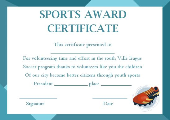 Sports Award Certificate Templates - Template Sumo Throughout Athletic Award Certificate Template