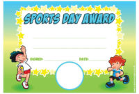 Sports Award – Personalised Certificate with regard to Best Sports Day Certificate Templates