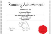 Sports Certificate – Achievement In Running pertaining to Finisher Certificate Template 7 Completion Ideas