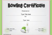 Sports Certificate – Bowling Award Certificate throughout Bowling Certificate Template