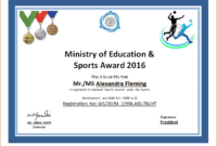 Sports Certificate Template For Ms Word | Document Hub with Best Athletic Award Certificate Template