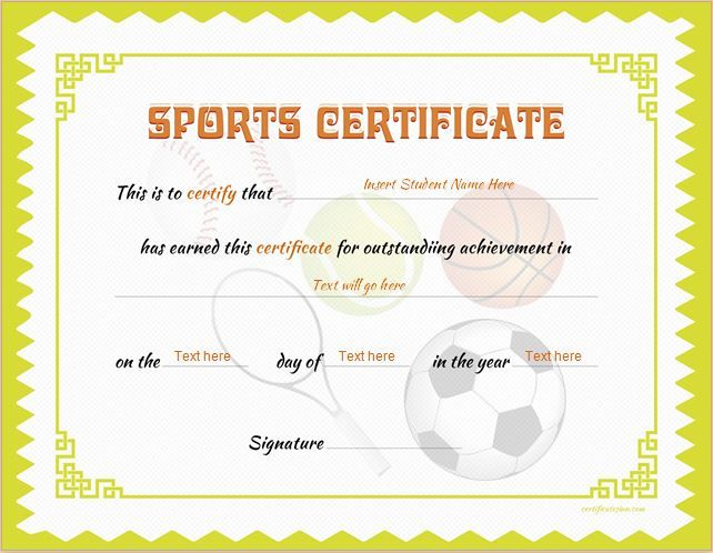 Sports Certificate Template For Ms Word Download At Http In Fresh Baseball Certificate Template Free 14 Award Designs