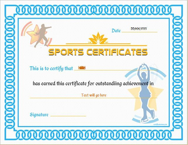 Sports Certificate Template For Ms Word Download At Http Within Athletic Award Certificate Template