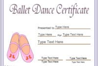 Sports Certificates – Award Template For Ballet| Ballet for Ballet Certificate Templates