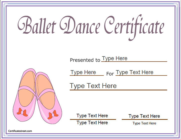 Sports Certificates - Award Template For Ballet| Ballet Throughout Unique Ballet Certificate Template