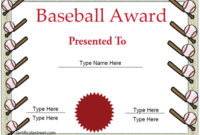 Sports Certificates – Baseball Certificate Template intended for Fresh Baseball Achievement Certificates