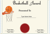 Sports Certificates – Basketball Achievement Certificate with regard to Best Basketball Achievement Certificate Templates