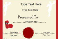 Sports Certificates – Free Printable Boxing Certificate regarding Boxing Certificate Template