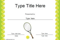 Sports Certificates – Tennis Award Certificate | Tennis for Printable Tennis Certificate Templates 20 Ideas