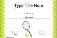 Sports Certificates – Tennis Award Certificate | Tennis in Tennis Tournament Certificate Templates