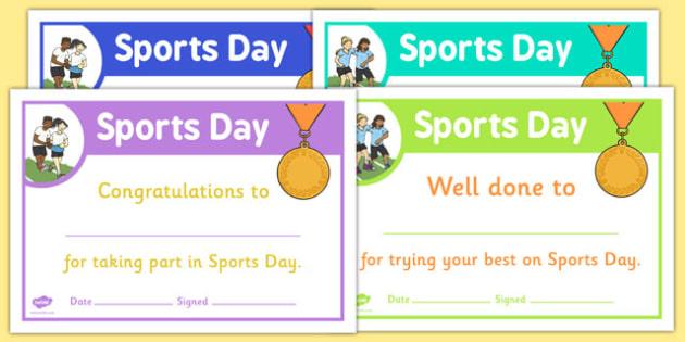 Sports Day Certificate Template (Teacher Made) Intended For Best Sports Day Certificate Templates