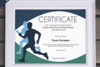 Sports Editable Certificate Template Editable Running Award with regard to Running Certificate Templates 10 Fun Sports Designs
