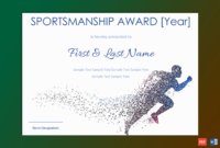 Sportsmanship Award Certificate ( Blue And White Border) – Gct for Fresh Sportsmanship Certificate Template