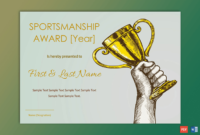 Sportsmanship Award Certificate – Soft Blue Border – Gct pertaining to Fresh Sportsmanship Certificate Template